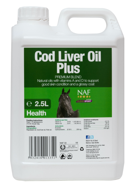 NAF Cod Liver Oil Plus 2.5 Litre Product Image