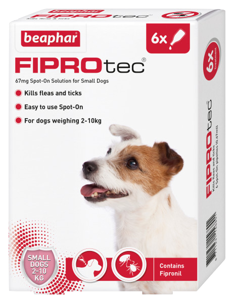 Beaphar FIPROtec Spot-On for Small Dogs 6 Pipette pack product image