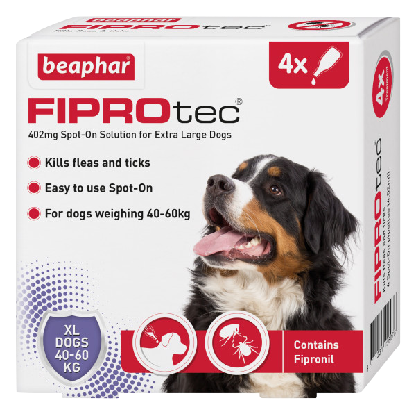 Beaphar FIPROtec Spot-On for Extra Large Dogs 4 Pipette pack product image
