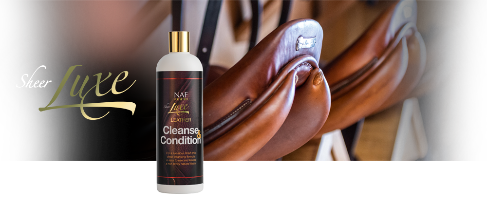 NAF Sheer Luxe Leather Cleanse & Condition Banner
