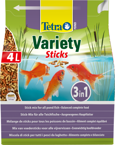 Tetra Pond Variety Sticks 4 Litres Product Image
